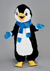 Location mascotte pingouin charpe